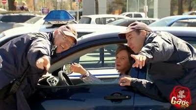 Розыгрыш с полицейским