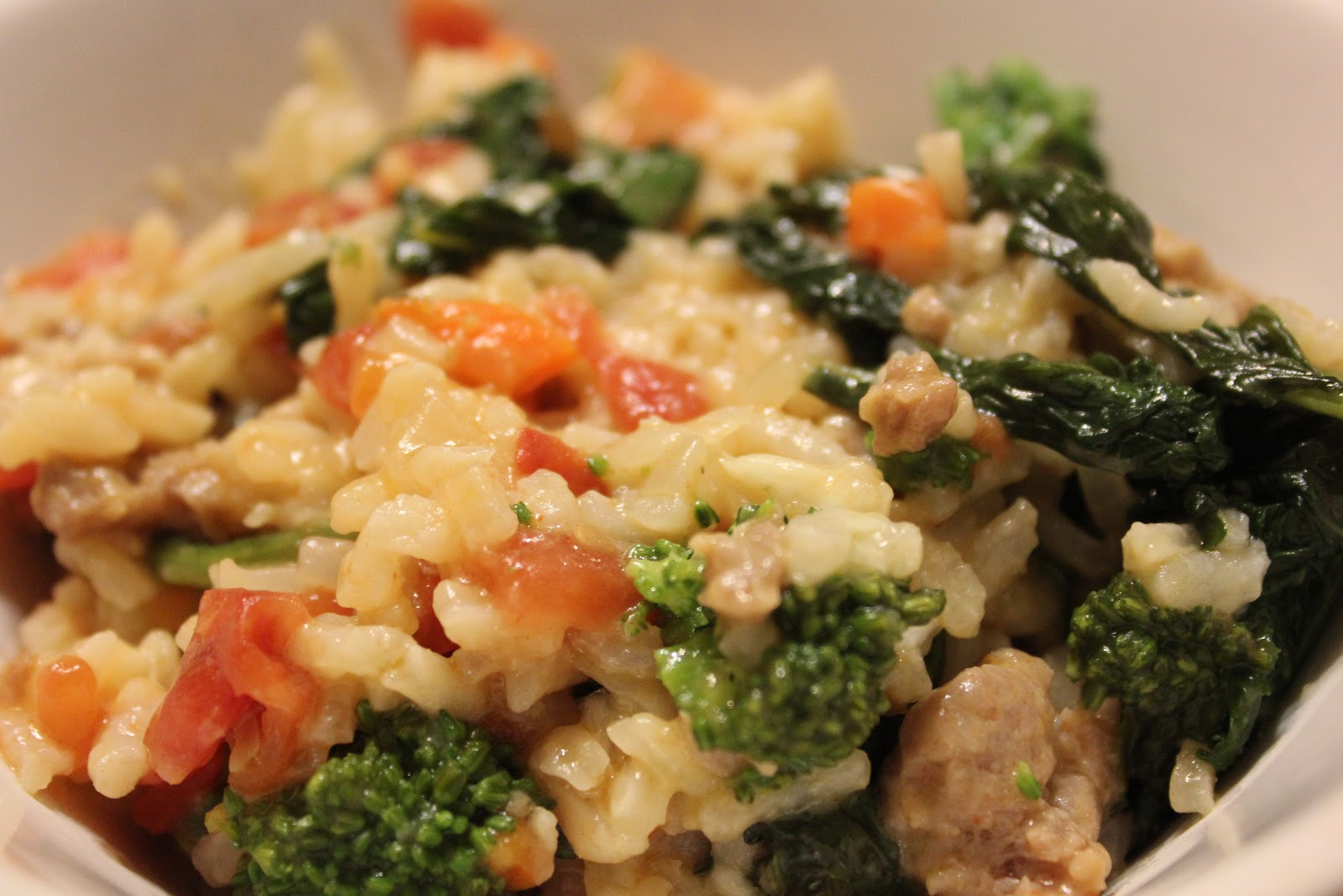 The busy mom cafe sausage broccoli rabe risotto sausage broccoli rabe risotto recipe adapted from foodnetwork courtesy of food network magazine forumfinder Gallery