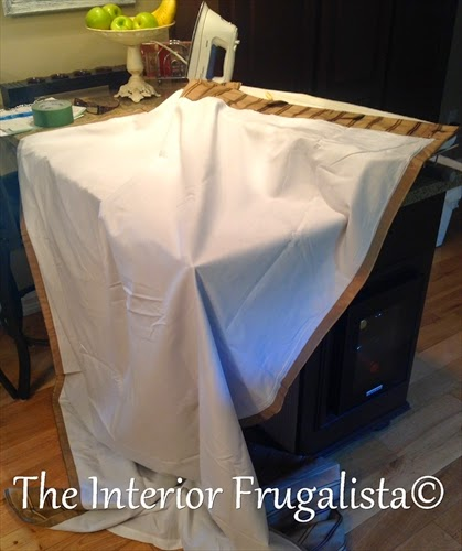 Turning a lined drapery panel into a custom roman shade