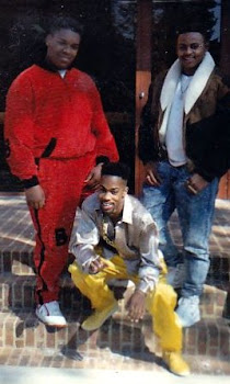 Remember da 80s...Dapper Dans dapped up 2 velour Bally Outfits red and black, yellow and black