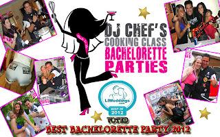 dj chef best bachelorette party idea fun cooking ny nj ct li pa hamptons