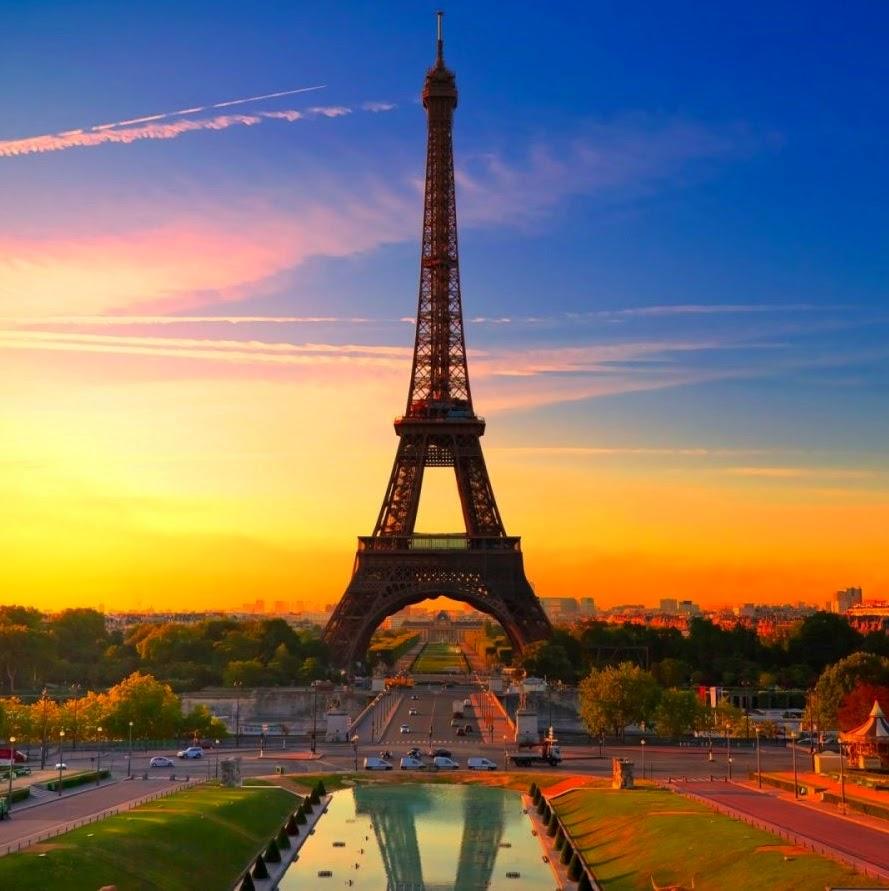 Paris por do sol