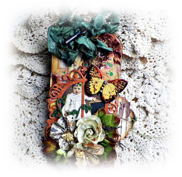 "Vintage Autumn Tag by Lisa Novogrodski created with the Scraps of Darkness November Kit ""Amy's Amazing Autumn"" lisaslivingincolor.blogspot"