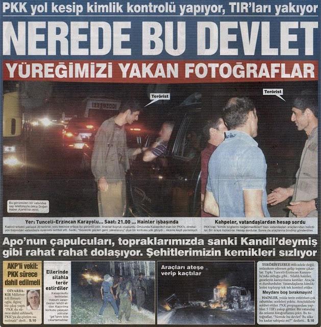 İşte yol kesip 5 TIR'ı yakan PKK'lı teröristler