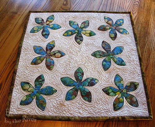 Fun Flower Candle mat at Freemotion by the River
