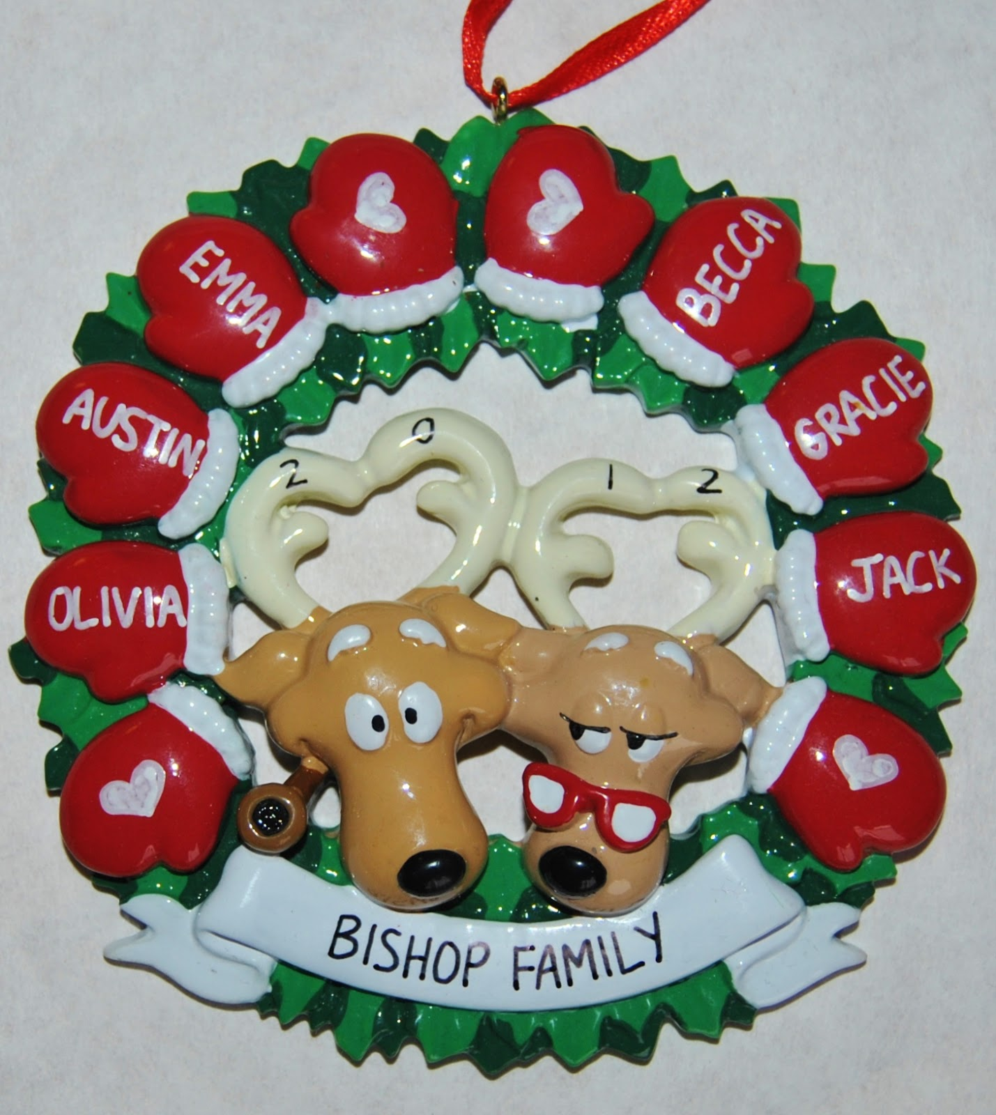 Win a personalized christmas ornaments from 39 ornaments for Customized photo christmas ornaments