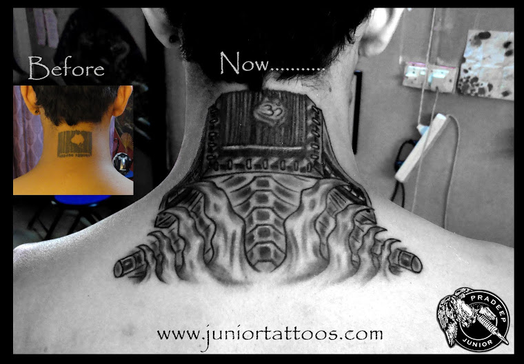 Bio Mechanical Cover up Tattoo