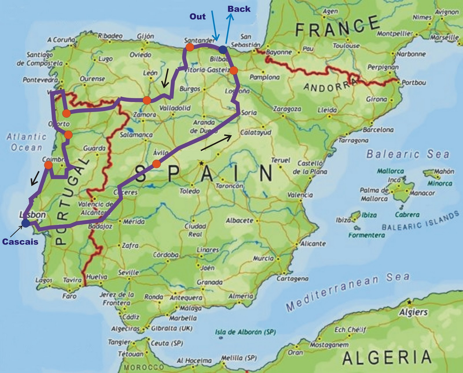 Flies In Your Teeth Plans For Bike Trips - Portugal map hd