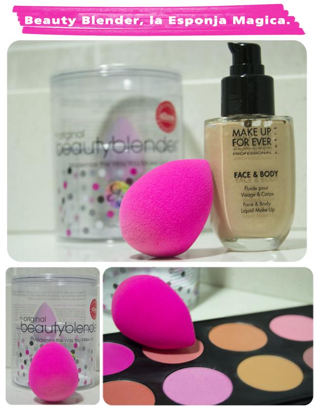 aplicar maquillaje esponja beauty Blender