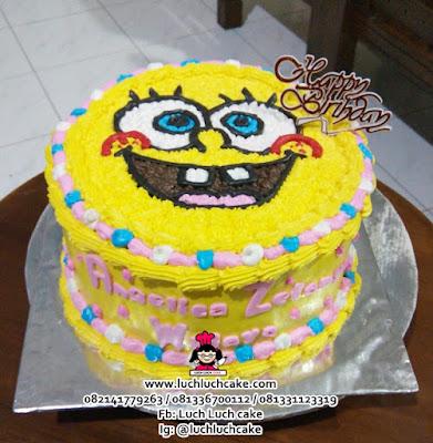 Spongebob Birthday Cake Buttercream