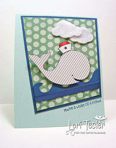 You're a Whale of a Friend card-designed by Lori Tecler/Inking Aloud-stamps and dies from The Cat's Pajamas