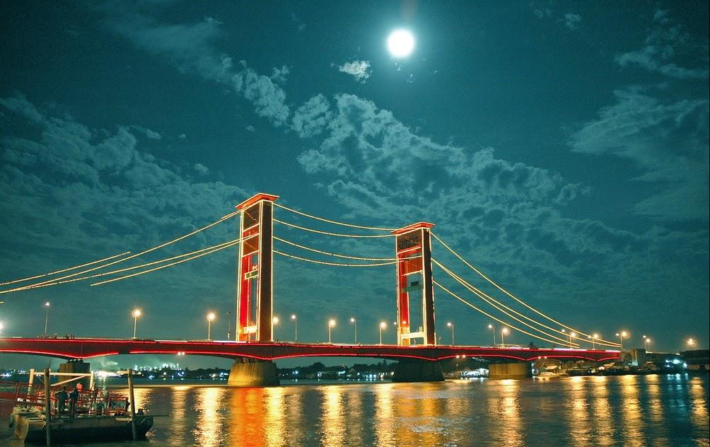 Pemandangan Kota Palembang Indonesia Betara