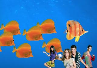 Wallpapers Posters dos Morangos com Açucar a dançar musical Vive o Verão em fundo de tela Aquário com Peixes