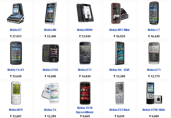 Nokia Mobile Phones Price List With Pictures Find Phone