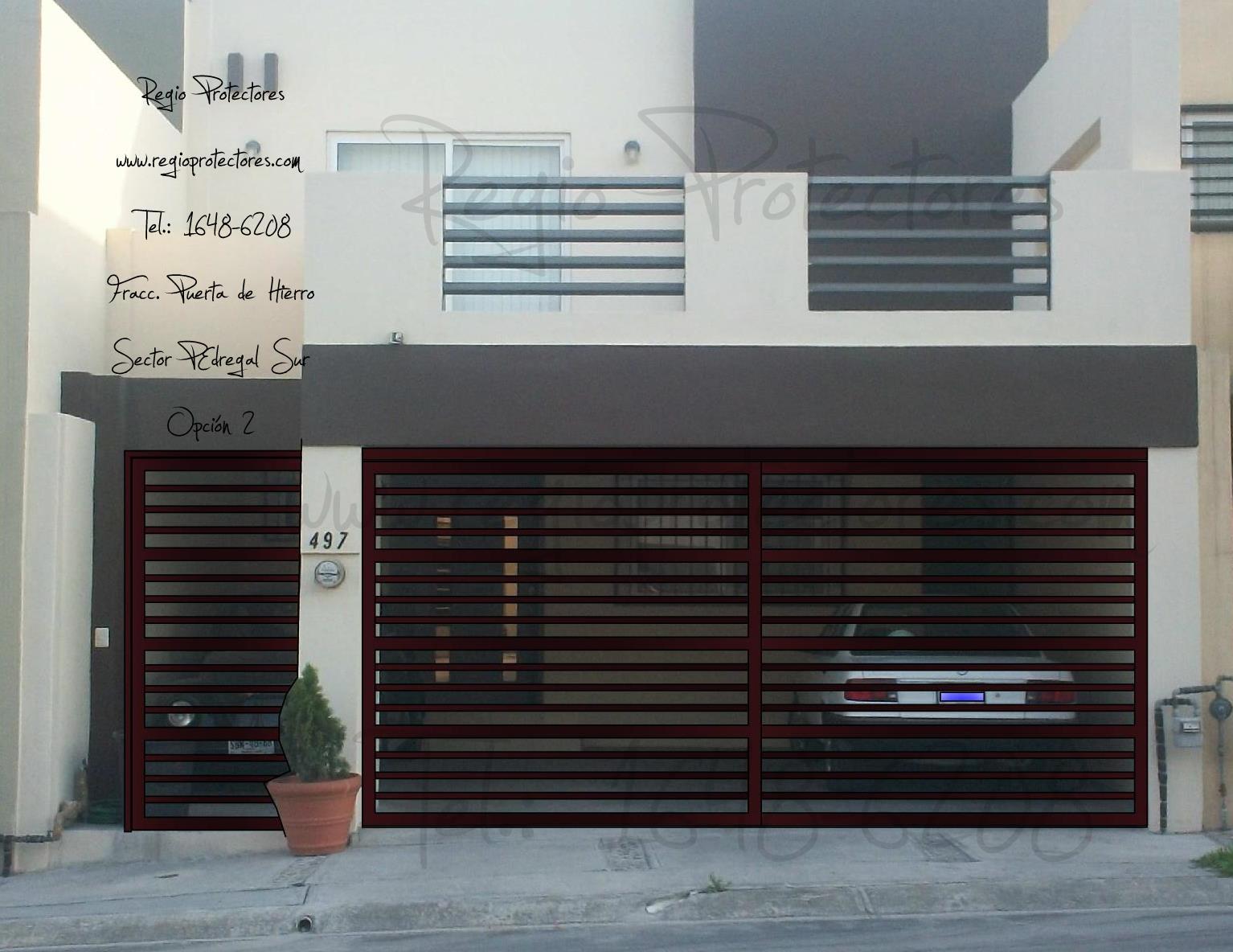 Puertas zaguanes de herreria car interior design - Puertas de cochera ...