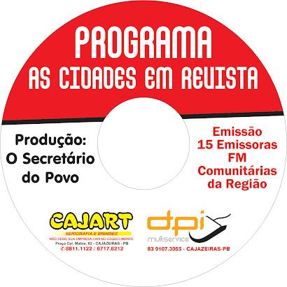 programa GERADO NA CULTURA FM  E RADIO CIDADE FM CAJAZEIRA PB
