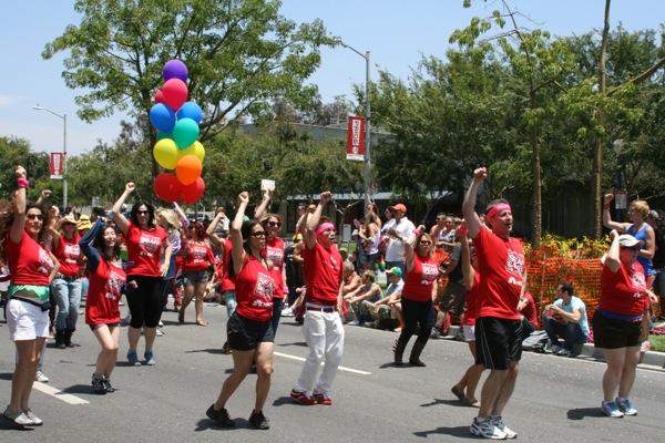 NBC Universal dancers LA Pride Parade 2013