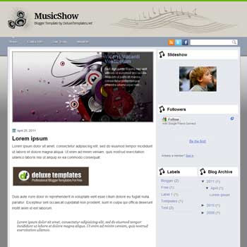 MusicShow blogger template. template for music blog