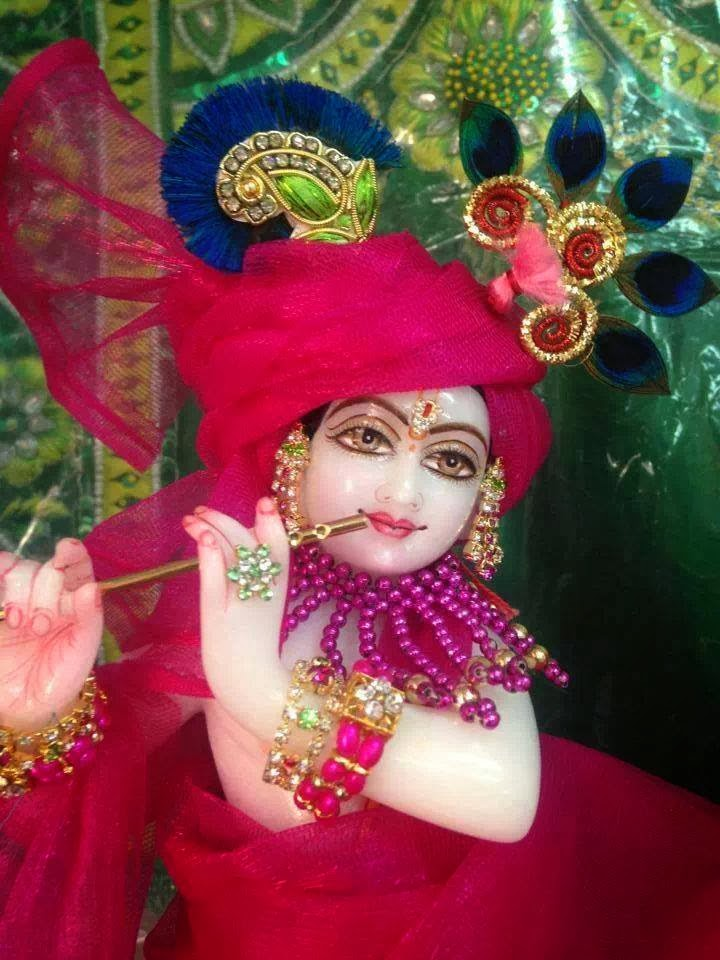 cute kanha ji cute krishna in red dress