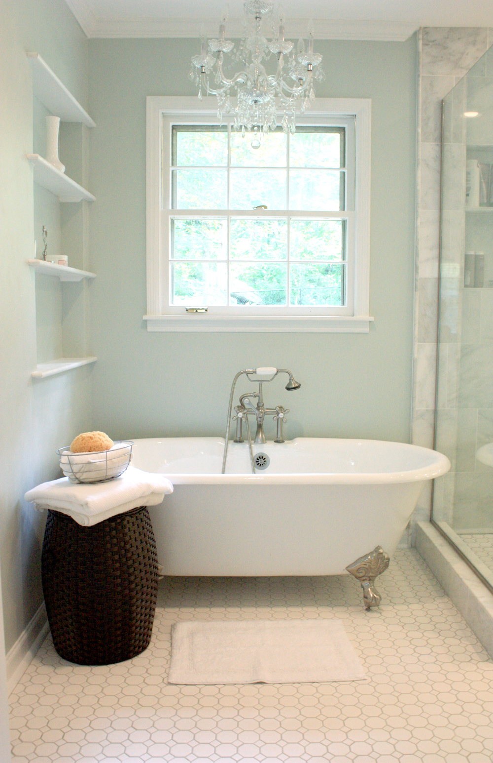 Benign objects our calm and clean master bath renovation for Master bath renovation