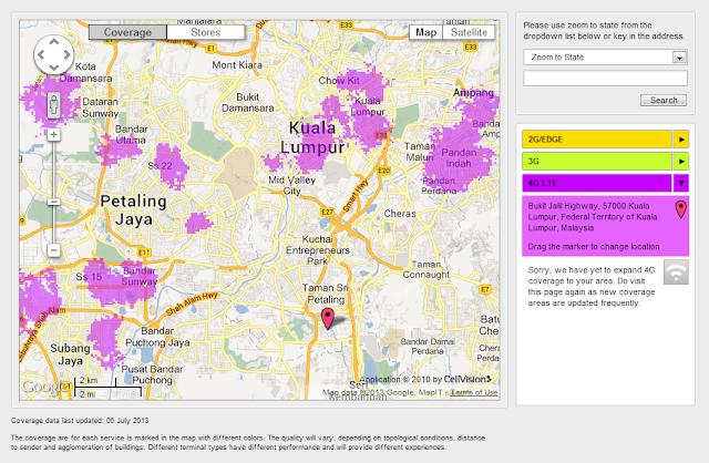Lokasi 4G LTE DiGi