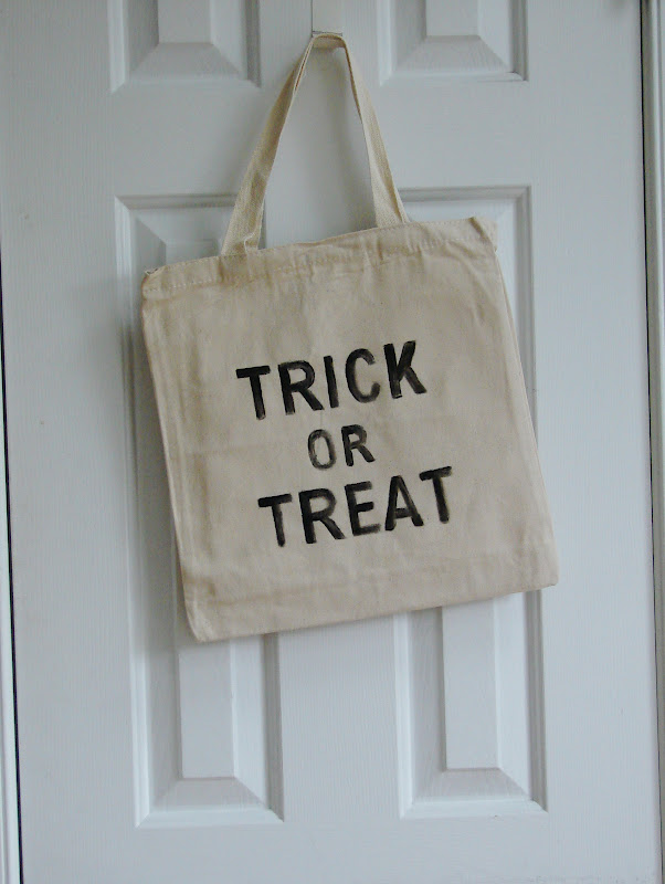 mk inspired diy trick or treat bag decor
