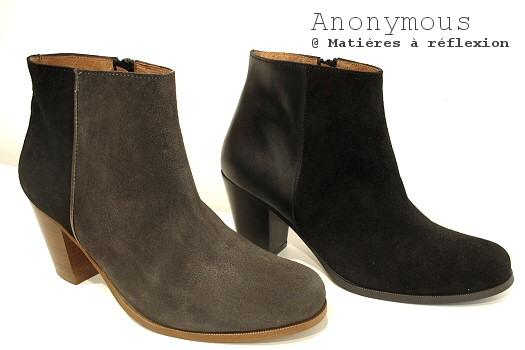 Boots noir Anonymous