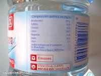 Composición química del agua mineral Dia (Fuente Primavera)
