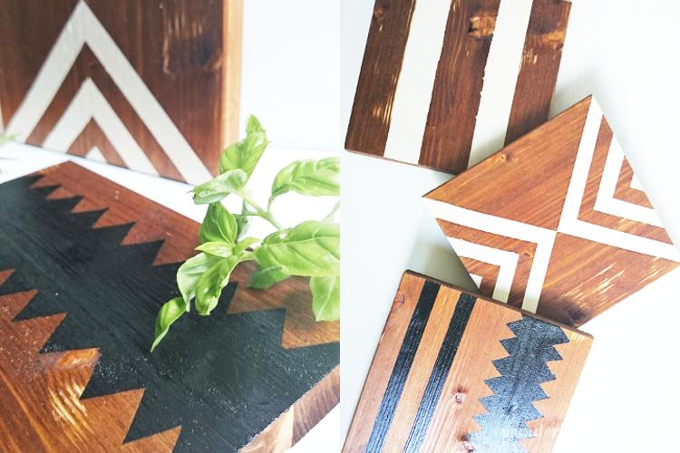 DIY Topfuntersetzer aus Holz