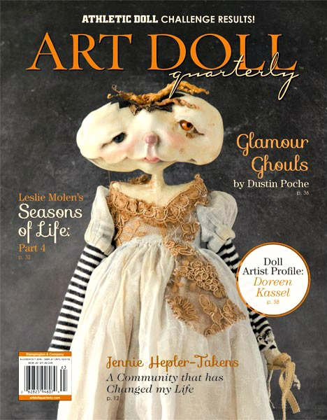 Charmed Confections was published in the August 2016 issue of Art Doll Quarterly. Check it out!