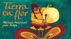 Arte de tapa e ilustraciones para Tierra en Flor, música ancestral  para niños de Graciela Mendoza.