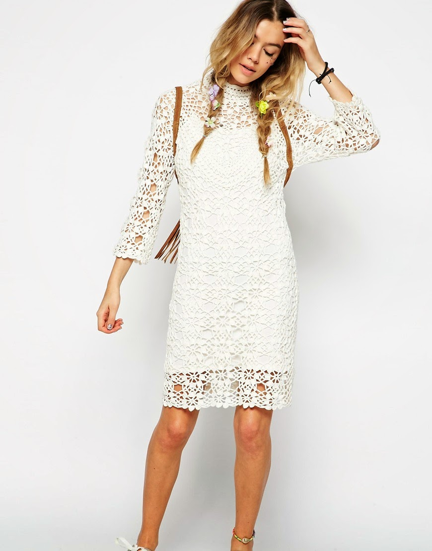 asos crochet dress,