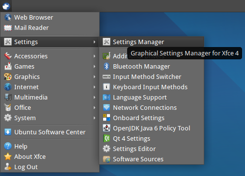 xfce add application to launcher