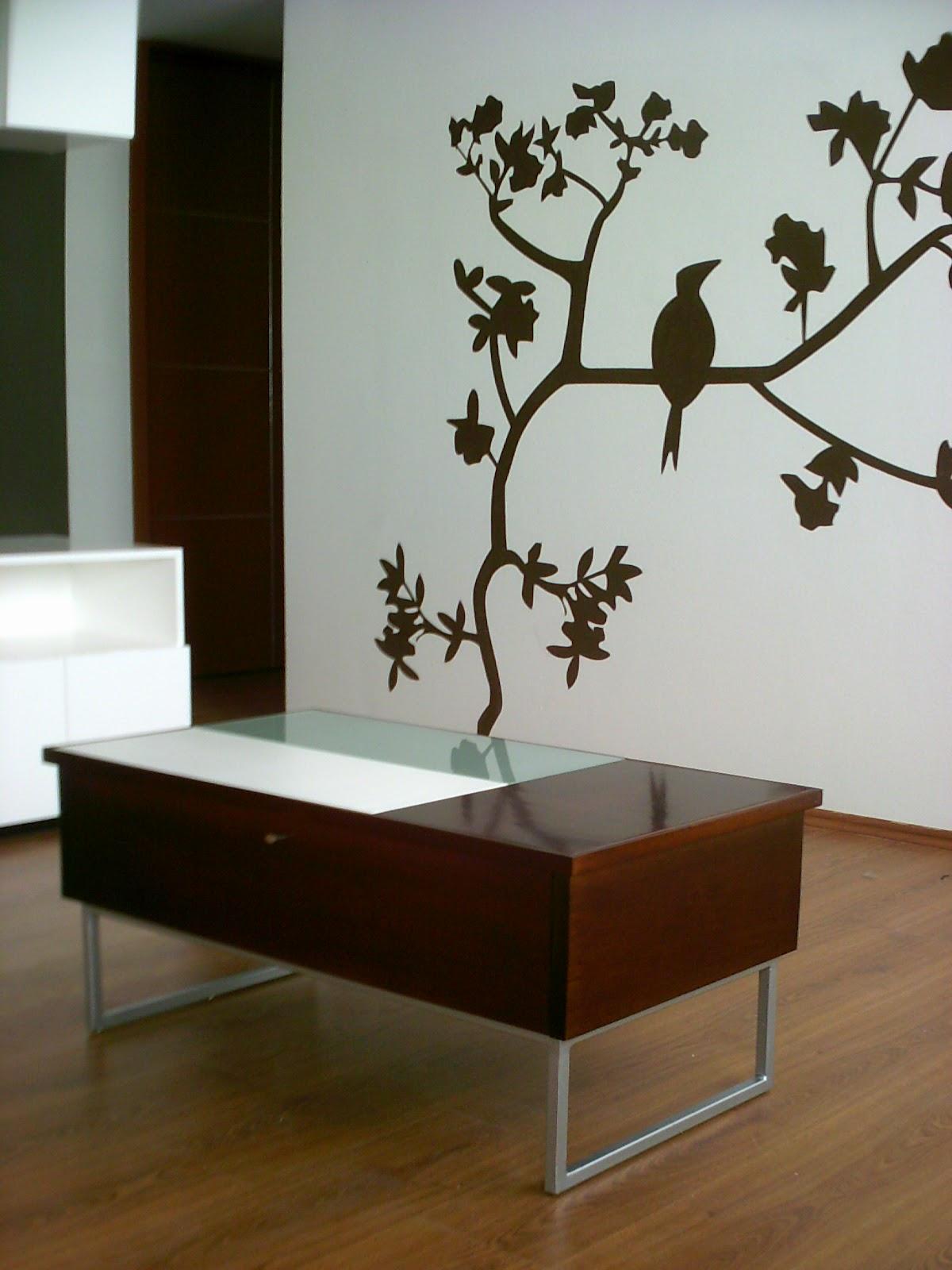 Dise o de mesa de centro minimalista fabricada en mdf - Mesas de centro de diseno de cristal ...