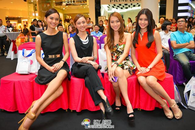Lenna林家冰, Joey张祖儿, Sammi张佩晶 and Denise陈楚寰 @ Miss Astro Chinese International Pageant 2013 Top 10