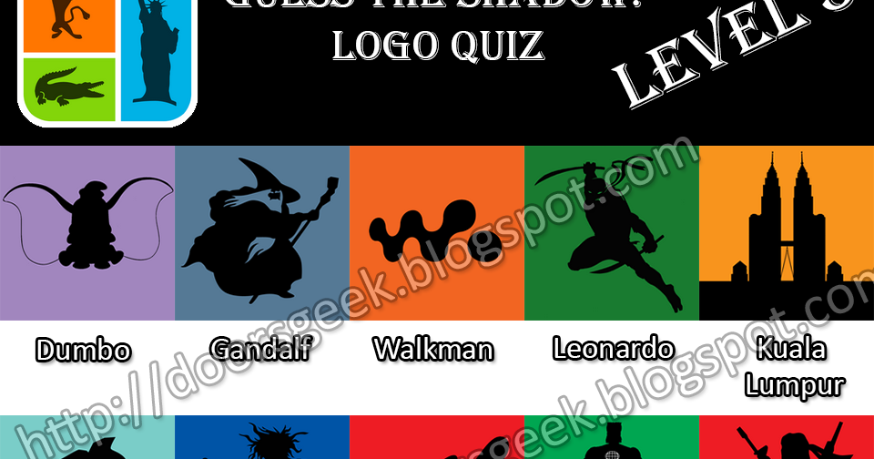 Guess the Shadow! ~ Logo Quiz [Level 5] Stage 1 to 25 ...