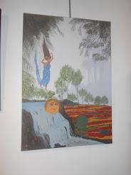 """Νότα Κυμοθόη """"Η ροή του Φωτός"""" Έργο ζωγραφικής μου"""