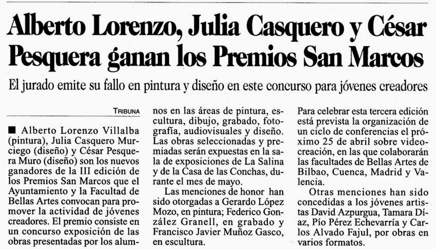 alberto lorenzo: Prensa