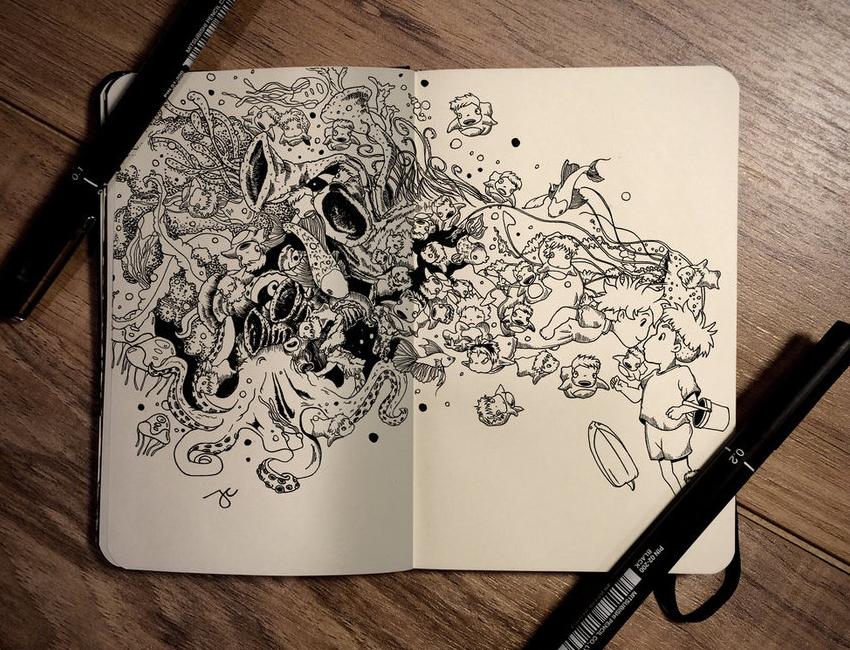 23-That-Whisper-Joseph-Catimbang-Pentasticarts-Metaphysical-and-Surreal-Doodle-Drawings-www-designstack-co