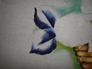 pintura em tecido folhas