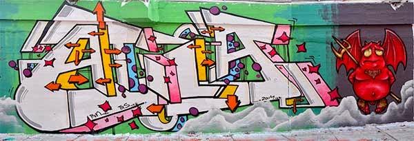 Graffiti Atila y Jolich 2014