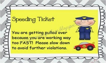 post-it speeding tickets