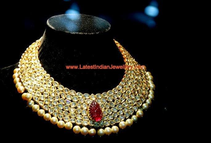 Polki Diamond Masterpiece Bridal Necklace
