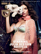 it's all about Julia Restoin Roitfeld and her bump on the latest cover of iD .