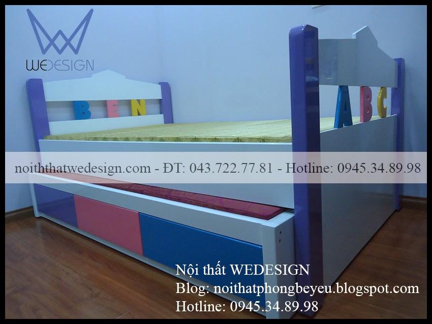 Giường có ngăn kéo 2 tầng