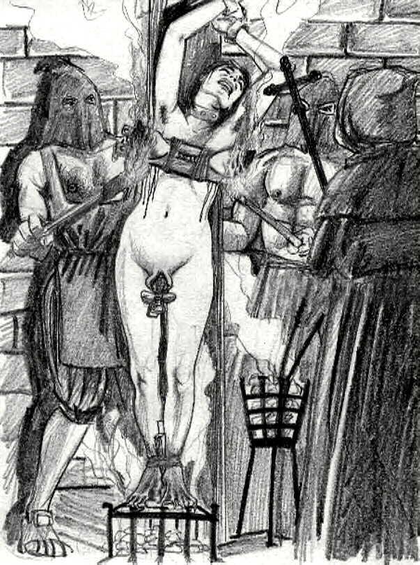 Пытки провинившихся рабынь