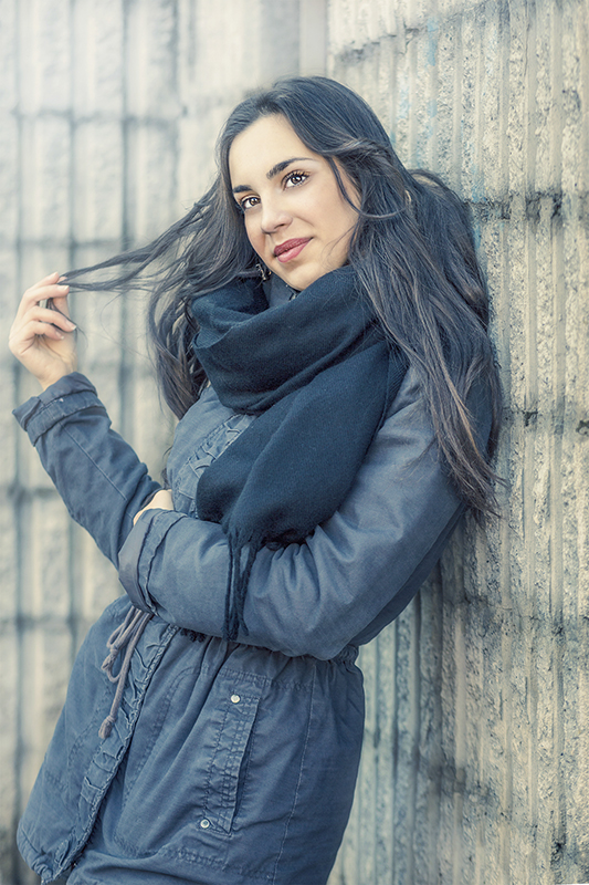 Winter outdoor portrait