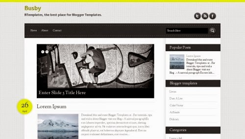 Busby blogger theme
