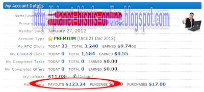 123 dollar ptc, bisnis ptc, penghasilan dari ptc, ptc terpercaya, ptc bisnis gratis