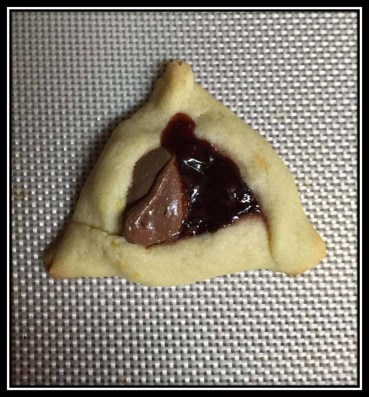 Raspberry Nutella Hamantaschen